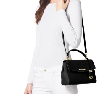 Ava Small Saffiano Leather Crossbody Satchel