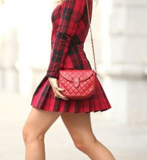 Long-Sleeved Mini Dress in the Street