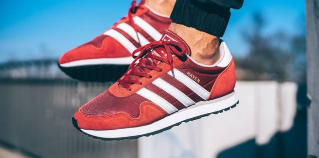 "On Feet Look at the adidas Originals Haven ""Mystery Red"""