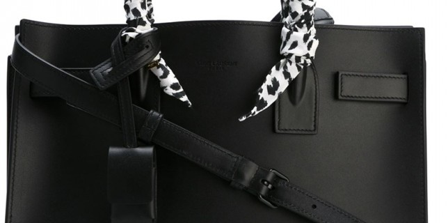 Saint Laurent bag with Pre-Wrapped Scarf Handles