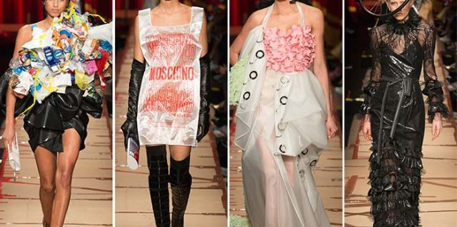 Jeremy Scott Showed Cardboard Couture for Moschino Fall/Winter 2017-2018 RTW Line